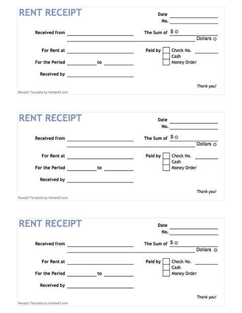 printable rent receipt form   vertexcom