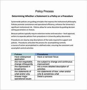 6 policy and procedure templates pdfdoc sample templates for Company policies and procedures template free