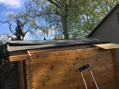 Dachpappe Und Dachplatten by Abbau Wieder Aufbau Gartenhaus Aus Holz Ein