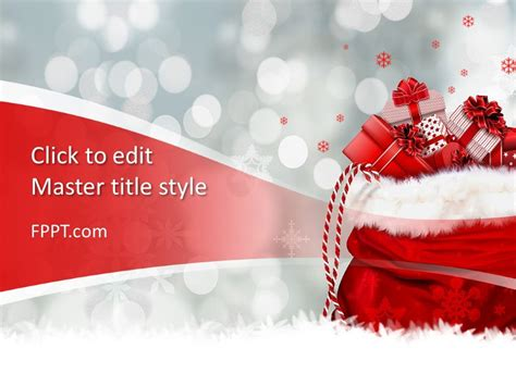christmas gift powerpoint template  powerpoint