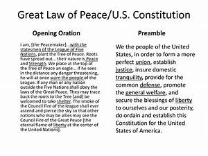 Great Law of Pe... Iroquois Constitution Quotes