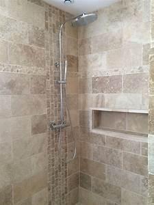 Salle De Bain Italienne Leroy Merlin : salle de bain travertin douche italienne niche ~ Melissatoandfro.com Idées de Décoration