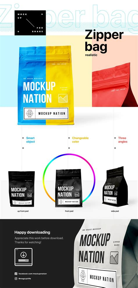 Psd file consists of smart objects. Free Zipper Bag Mockup PSD - Find the Perfect Creative ...