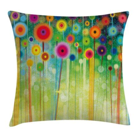 Watercolor Flower Home Decor Throw Pillow Cushion Cover