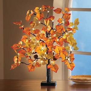 Lighted Tabletop Fall Maple Tree from Collections Etc