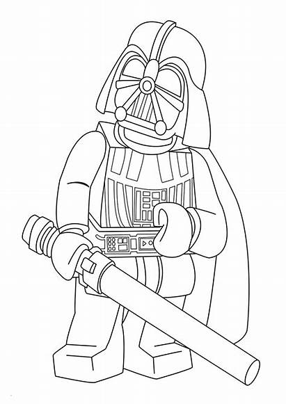Lego Coloring Wars Star Pages Vader