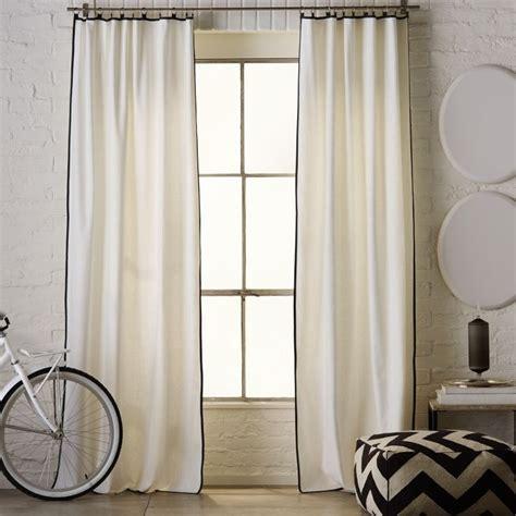 west elm curtains linen cotton narrow frame window
