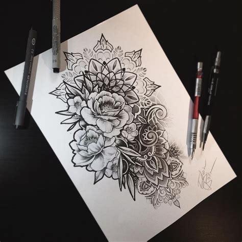image result  mandala rose flower sleeve tattoo ideas