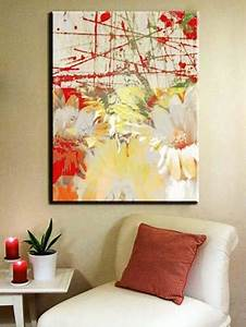 25 ideas for modern interiors with paintings With what kind of paint to use on kitchen cabinets for large floral canvas wall art