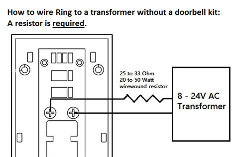 how to connect your ring doorbell directly to a low voltage transformer without a pre