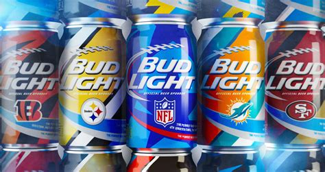 bud light football cans brand new