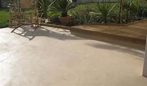 cuisine d39exterieur et mobilier d39exterieur With beton teinte pour terrasse