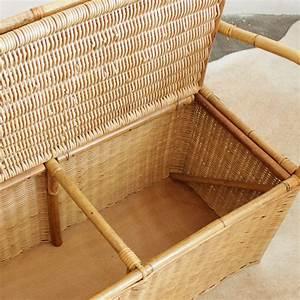 Coffre En Rotin : mobilier vintage banc coffre rotin atelier du petit parc ~ Teatrodelosmanantiales.com Idées de Décoration
