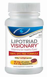 Check Out These Vitamins For Healthy Eyes  The Lipotriad Eye Vitamin And Mineral Supplement Has