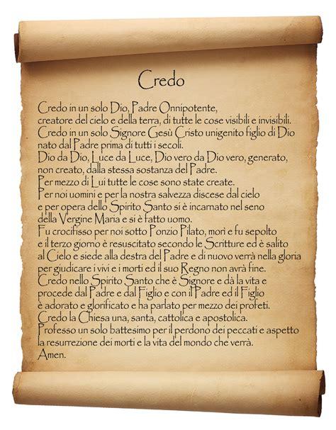 Preghiera Credo Testo by Recitiamo Il Credo Santo Rosario Web