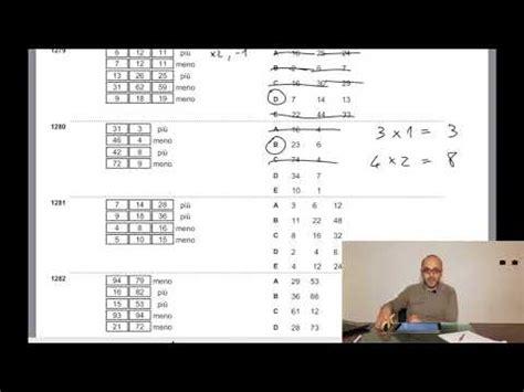 ragionamento numerico test ripam formez metodo cotruvo
