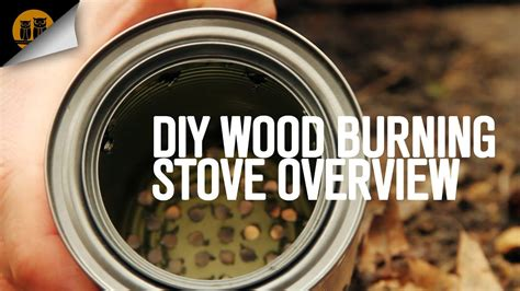 diy wood burning backpacking stove overview youtube