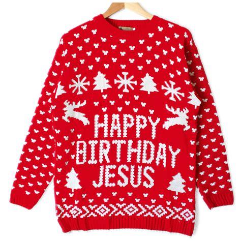happy birthday jesus tacky ugly christmas sweater the