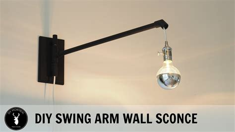 diy swing arm wall sconce youtube oregonuforeview