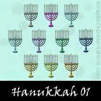 hanukkah embellishments scrapbook downloads kit