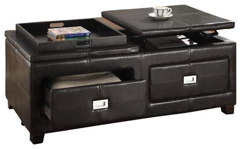 ottoman with drawers storage indy functional lift top cocktail ottoman table with