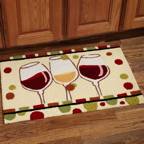rugs kitchen kohls mats wine rug christmas glasses mat cool idea selections themed homesfeed theme decor kitchens popular reply glass