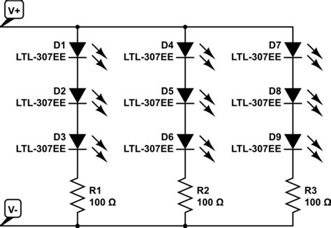 Resistors Calculating Resistance For Led Strips Use