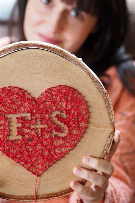 liebe aus wolle und holz diy string art herz hochzeit