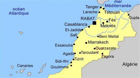 Carte Du Maroc Avec Les Principales Villes by Carte Des Grandes Villes Du Maroc My