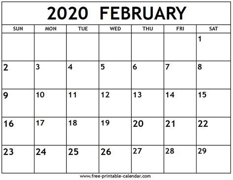 february calendar printable calendarcom