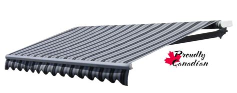 rolltec  ft manual retractable patio awning  ft   projection  blackgrey stripes