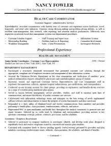 experienced healthcare professional resume resume sles for healthcare professionals recentresumes