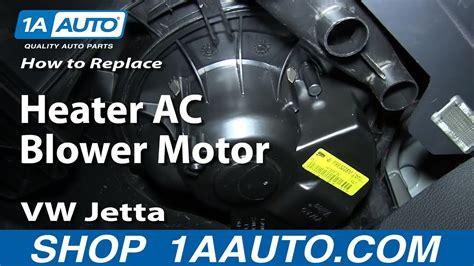 replace blower motor  fan cage   volkswagen