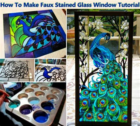 how to make a stained glass l diy faux stained glass window tutorial pictures photos