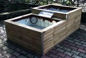 bassin en bois exterieur dootdadoocom idees de With beautiful photos de bassins de jardin 6 construction bassin maconne et naturelle