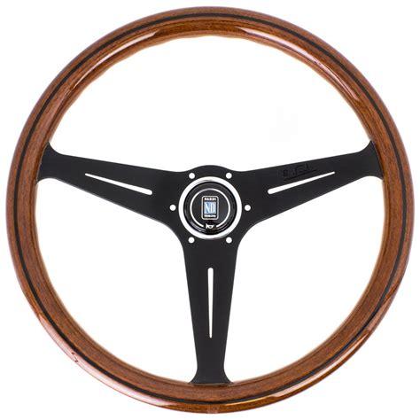 Steering Wheel by Nardi Classic Steering Wheel Wood With Black Spokes