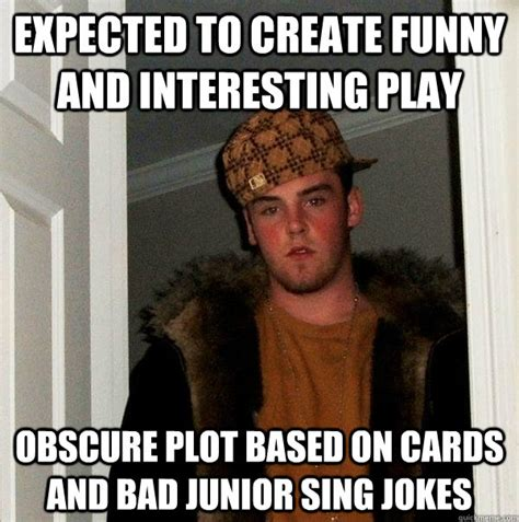 Obscure Memes - expected to create funny and interesting play obscure plot based on cards and bad junior sing