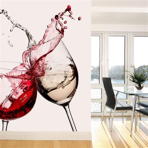 wine glasses photo wallpaper wall artcom
