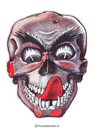 maschere dellhorror paurose da stampare  ritagliare