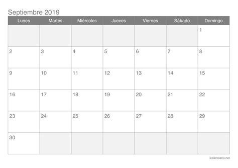 calendario imprimir septiembre