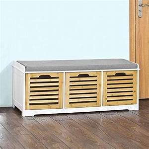 banc entree meuble chaussure maison design bahbecom With porte d entrée alu avec banc coffre pour salle de bain