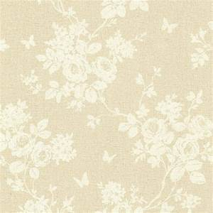 Brewster Gia Taupe Floral Wallpaper Sample