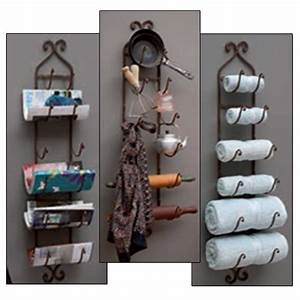 Wine towel rack wall mount holder bottle storage metal