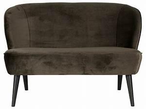 Sofa Samt Grün : woood sara retro sofa samt warmes gr n 2 sitzer ~ Michelbontemps.com Haus und Dekorationen