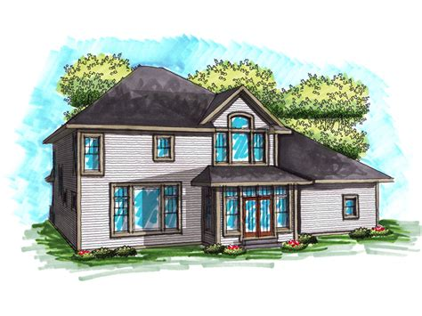 abbot mill craftsman home plan   house plans