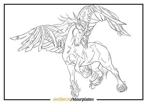 Kleurplaat Paarden Regenboog by Eenhoorn Regenboog Kleurplaat