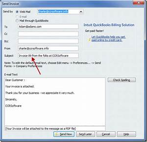 inserting the invoice number in a quickbooks email With quickbooks pay online message on invoice