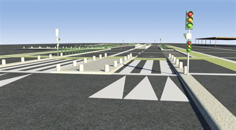 Pedestrian Crossings And Road, 3d Library