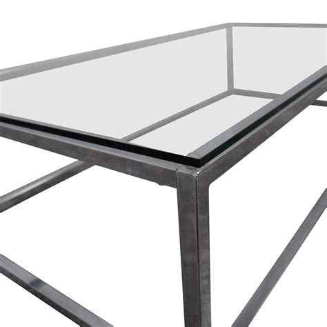 67% Off  Cb2 Cb2 Smart Chrome And Glass Coffee Table Tables