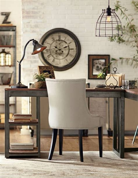 industrial style home office desk the industrial look office home office pinterest